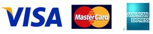 visa、マスター、アメリカンエクスプレス