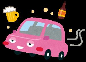 飲酒運転を表現したイラスト