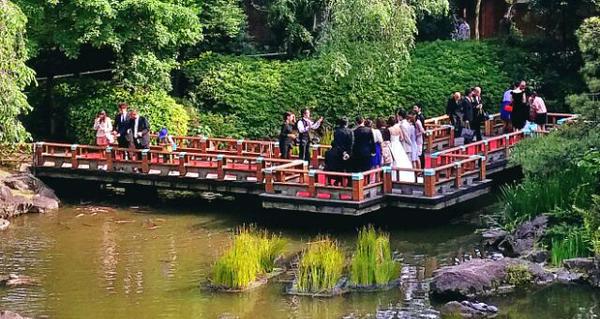 原宿東郷記念館での結婚式の様子