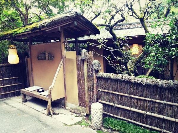 東京都八王子市の料亭「うかい竹亭」の正面