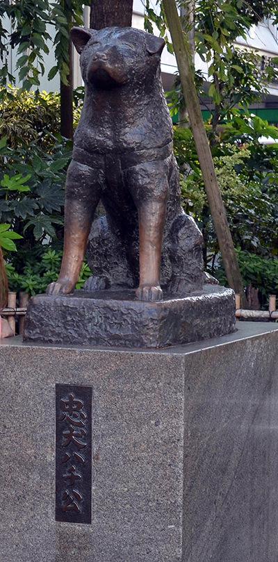 渋谷駅前の「忠犬ハチ公像」