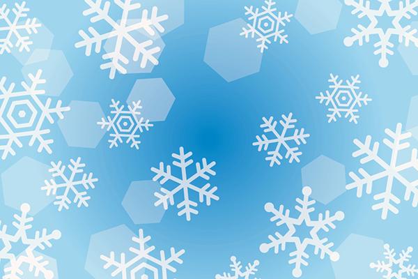浮き上がる雪の結晶のイラスト