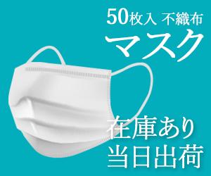 50枚入り不織布マスクを当日出荷【ドライバーズ東京ショップ】